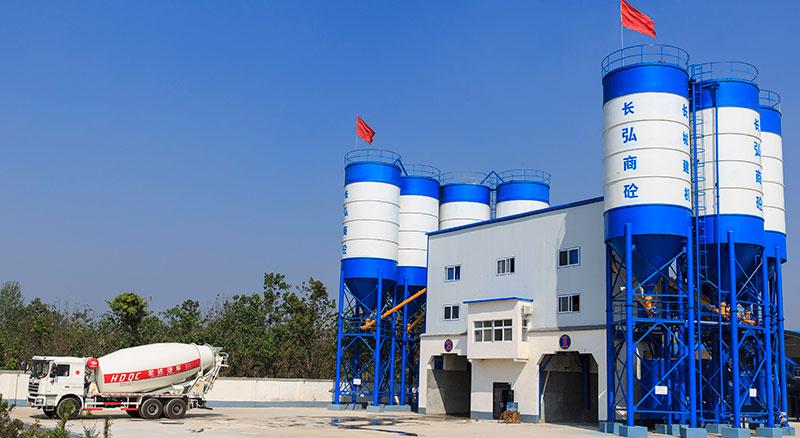 Большой бетоносмесительный завод