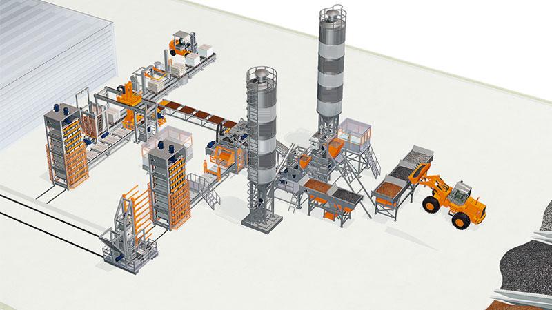 Бетонный завод для блоков
