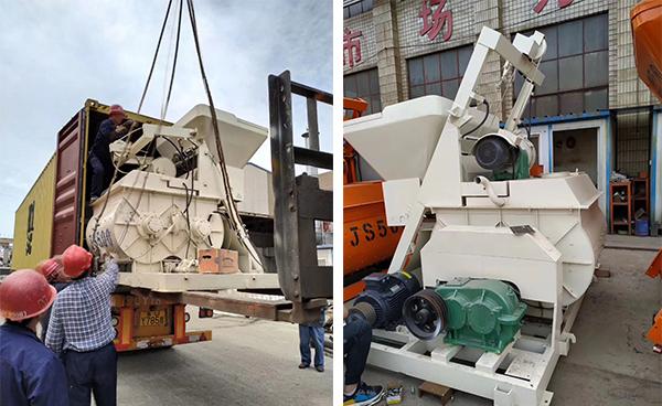 Бетоносмесительная установка HZS25 отправлена в Алжир